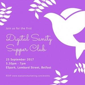 Digital Sanity Supper Club