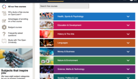 Study online for free from nearly 1,000 courses on OpenLearn by Open University