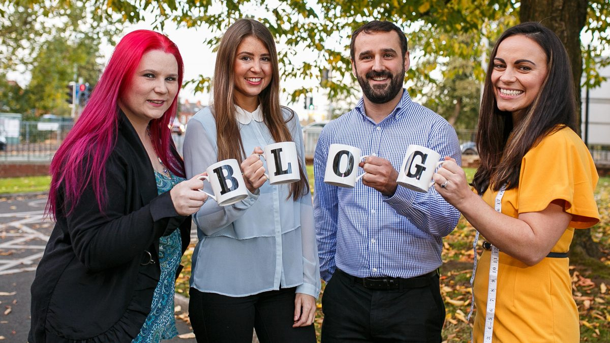 Get Blogging NI with Libraries NI and TrainingMatchmaker dot com PR photo Lisburn City Library training course