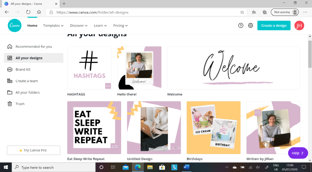 canva graphics by Jillian Henning on her learning journey with make it click and training matchmaker